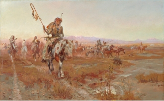 "Charles M. Russell; ""The Medicine Man""; 1908; Oil on canvas; Amon Carter Museum, Fort Worth, Texas; 1961.171"